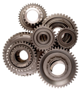 bigstock-Assorted-metal-gears-on-white-17158397