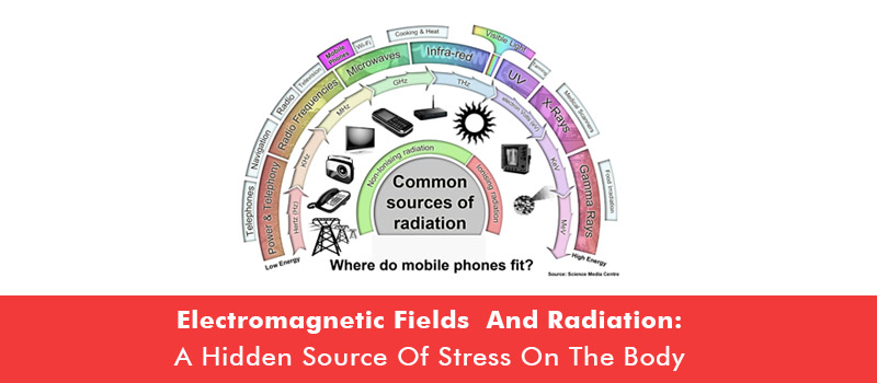 Electromagnetic Fields and Radiation: A hidden source of stress on the body