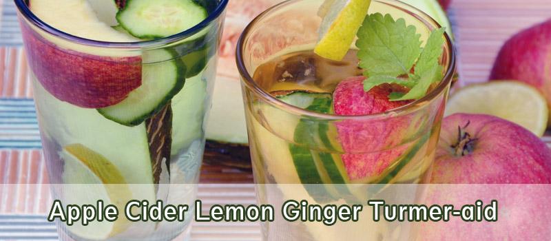 Apple Cider Lemon Ginger Turmer-aid